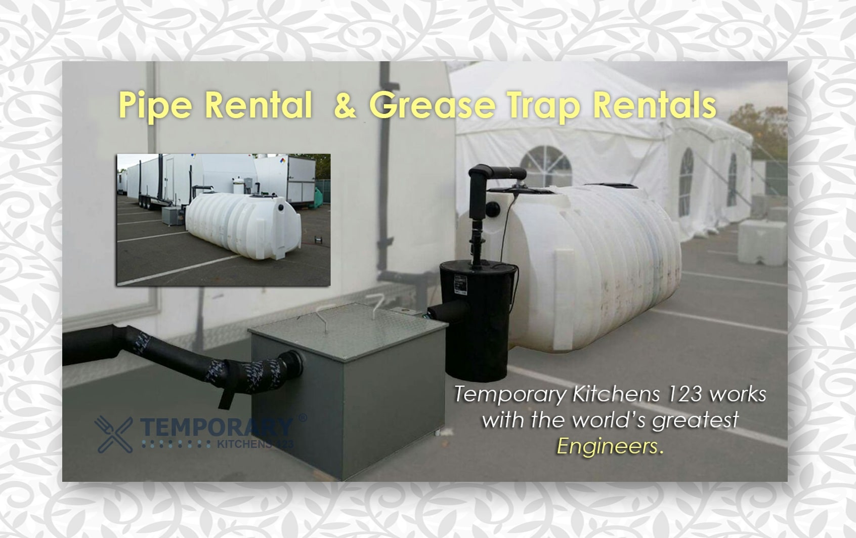 Pipe Rental & Grease Trap Rentals